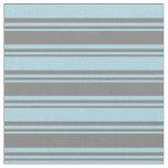 [ Thumbnail: Grey & Light Blue Pattern of Stripes Fabric ]