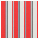 [ Thumbnail: Grey, Light Slate Gray, Red, Mint Cream, and Black Fabric ]