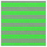 [ Thumbnail: Grey & Lime Striped Pattern Fabric ]