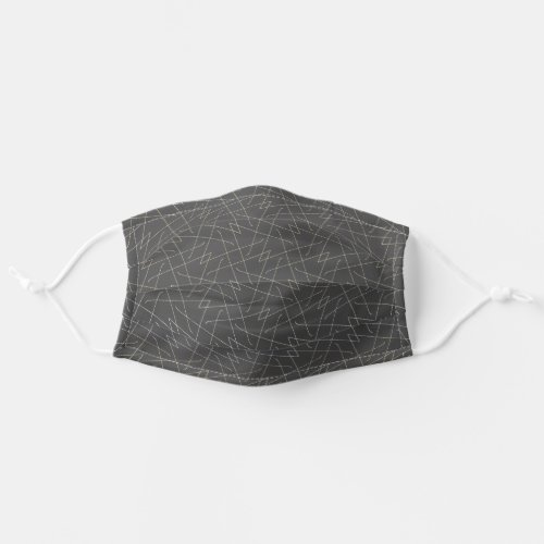 Grey Lines Simple Pattern Abstract Geometric Chic Adult Cloth Face Mask