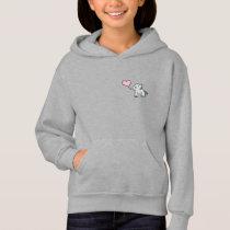 Grey little elephant love hoodie for girls