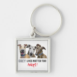 Grey Lives Matter Too Adopt Keychain