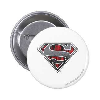 Grey Logo and Red City 2 Inch Round Button