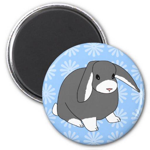 Grey Lop Rabbit Magnet