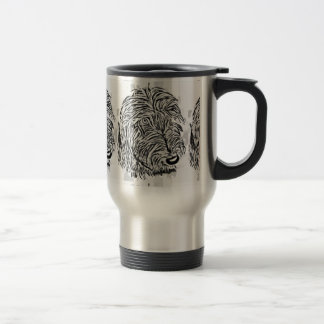 Grey lurcher dog travel mug