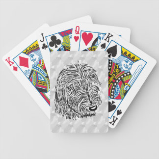 Grey lurcher pack of cards bicycle playing cards