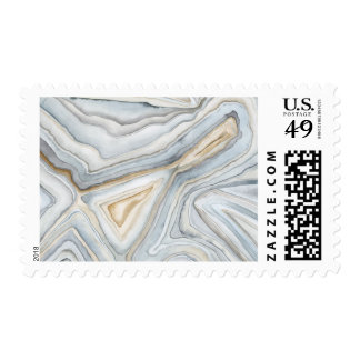 Grey Marbled Abstract Design Postage
