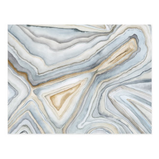 Grey Marbled Abstract Design Postcard