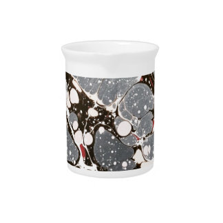 Grey marbled paper drink pitcher