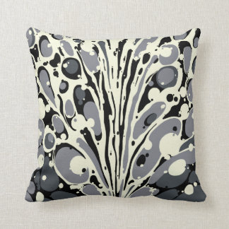 Grey Marbled Throw Pillow