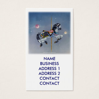 Grey Mare Carousel Horse Busines Cards
