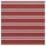 [ Thumbnail: Grey & Maroon Colored Lined Pattern Fabric ]