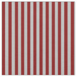 [ Thumbnail: Grey & Maroon Colored Lined/Striped Pattern Fabric ]