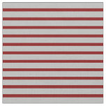 [ Thumbnail: Grey & Maroon Colored Pattern of Stripes Fabric ]