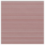 [ Thumbnail: Grey & Maroon Colored Striped Pattern Fabric ]