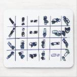 Grey matchsticks mouse pads