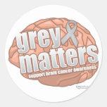 Grey Matters Classic Round Sticker