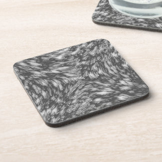 Grey Metal Rough Surface Drink Coaster