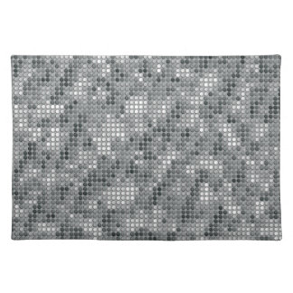 Grey Microdots Cloth Place Mat