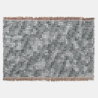 Grey Microdots Throw Blanket