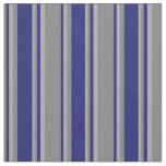 [ Thumbnail: Grey, Midnight Blue, and Dark Grey Lines Pattern Fabric ]