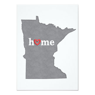 Grey MINNESOTA Home & Open Heart Card