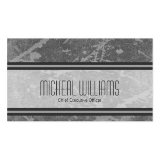 Grey Modern CEO Company Business Cards