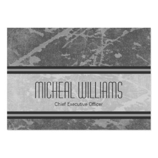 Grey Modern Large CEO Company Business Cards