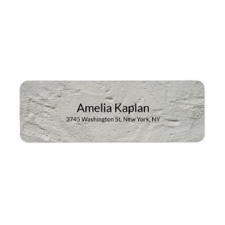 Grey Modern Plain Minimalist Professional Label