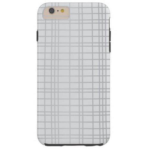 Grey, modern, simple, cool, trendy grid lines Phone Case