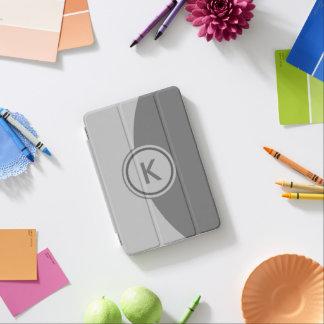 Grey Monogram iPad Mini Cover