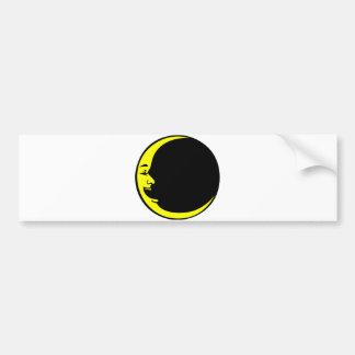 Grey Moon Hot Pink Moon Aqua Yellow Laughing Man Bumper Sticker