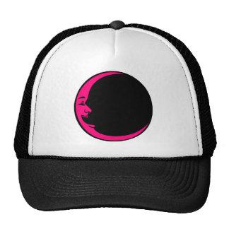Grey Moon Hot Pink Moon Aqua Yellow Laughing Man Hats