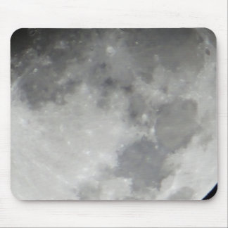 Grey moon surface mouse pad