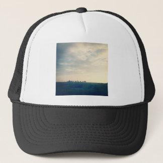 Grey morning trucker hat