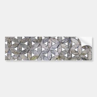 Grey mosaic bumper sticker