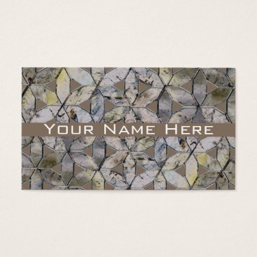 Professional Business Grey mosaic business cards