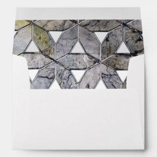 Grey mosaic envelope