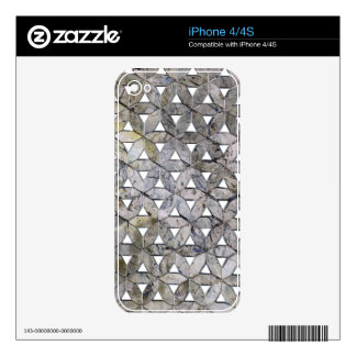 Grey mosaic skins for iPhone 4