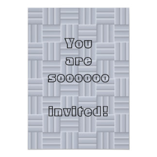 "Grey mosaic tiles 5"" x 7"" invitation card"