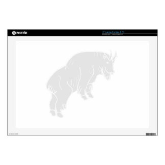 Grey Mountain Goat Decal For Laptop