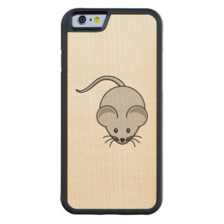 Grey Mouse Cartoon Carved® Maple iPhone 6 Bumper Case