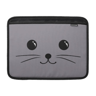Grey Mouse Cute Animal Face Design Sleeve For MacBook Air