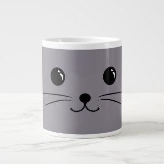 Grey Mouse Cute Animal Face Design Large Coffee Mug