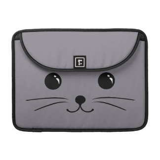 Grey Mouse Cute Animal Face Design Sleeve For MacBook Pro