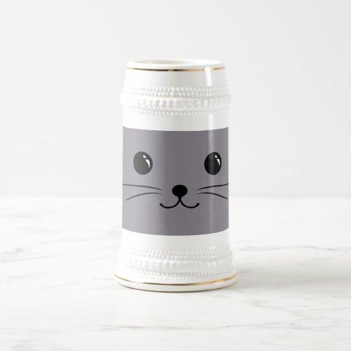 Grey Mouse Cute Animal Face Design Mug