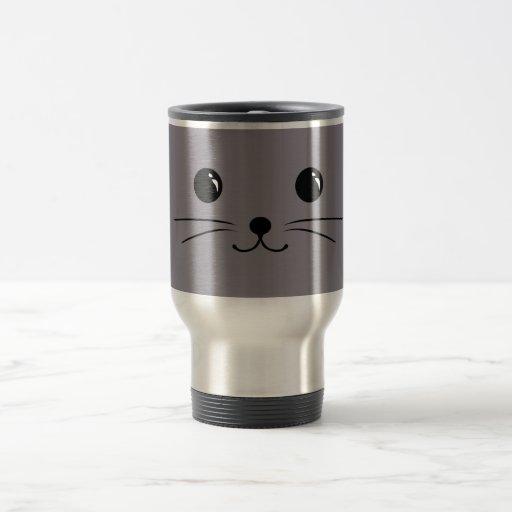 Grey Mouse Cute Animal Face Design Mugs