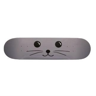 Grey Mouse Cute Animal Face Design Custom Skate Board