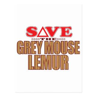 Grey Mouse Lemur Save Postcard