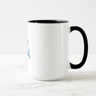 Grey Mullet Jumping Drawing Mug